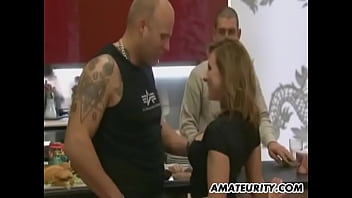 Homemade German anal threesome with facial cumshot