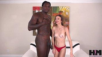 Small girl sucks big black man's dick! Rough and hard deepthroat!