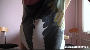 Lesbian GF Nikola teasing in this masturbation video
