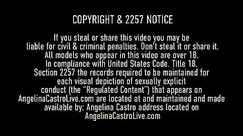 Curvy Cuban Angelina Castro & Big Butt Babe Maserati, use their spit filled mouths & big butts plus their huge titties to milk a lucky hard cock! Full Video & Angelina Live @ AngelinaCastroLive.com!