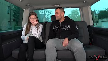 Young and Naive Babe Got Smashed in the Van by the Random Hunk
