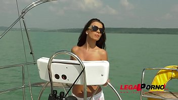 Sailor goddess Vicky Love rescues guy and rides his huge cock on the boat GP370