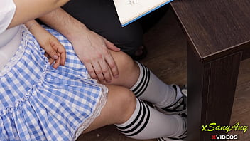 Why did this happen? How could this Japanese schoolgirl ...under the table at Homework ? -XSanyAny