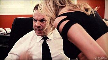Big tit blonde fucks a big cocked daddy