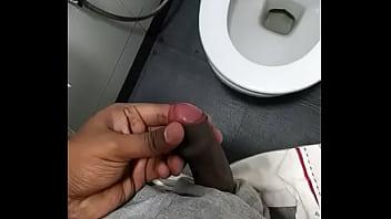 Masturbation in toilet thinking about neighbor aunty