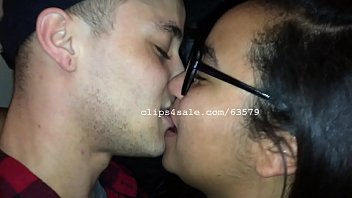 Beautiful College Couple Kiss Each Other