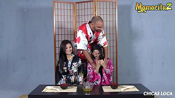 CHICAS LOCA - Miyuki Son & Lady Mae - Cute And Sexy Asian Babes Are Going Wild On Table