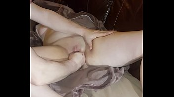 Waking her d. ass up screaming with my fist in her tight pussy.