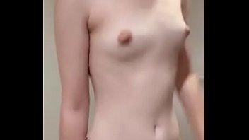 Topless Asian Teen Exercising