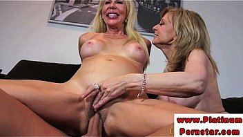 Two blonde matures show you how to really milk a cock