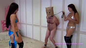 balls get b. afte several kick by two mistreses.MP4