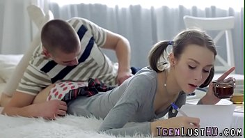 Tiny teen slut rides dick and gets little ass creamed in hd