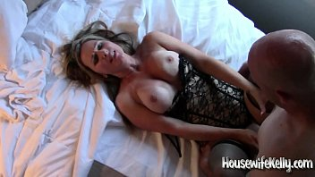 Sexy Housewife Kelly takes on 3 guys in hotel room part 3