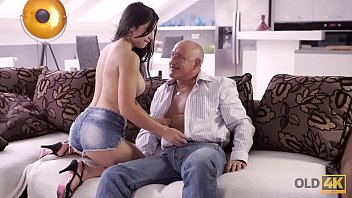 OLD4K. Caring old man proves_brunette Mira Cuckold he is a great lover Thumbnail
