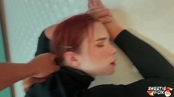 Redhead Blowjob Cock and Hard Pussy Fuck - Cumshot POV