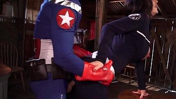 Captain America rams his partner