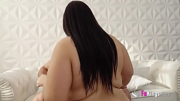 Chubby brunette babe wants to try her first experience in porn