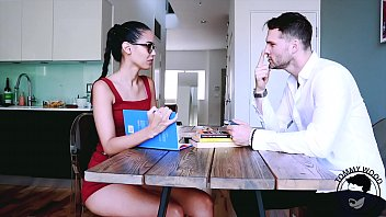 Andreina Deluxe Columbian student getting fucked by her teacher in spanish lesson - BIG ASS - facial on glasses - preview