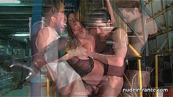 Female boss hard double penetrated by a pair of co worker Thumbnail