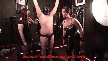 Nipple Pinching CBT Humiliation Chastity FemDom Mistress Threesome