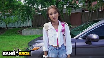 BANGBROS - Young, Skinny Teen Carmen Rae Is Totally DTF In A Van With Strangers
