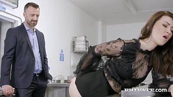 Office Slut Misha Cross deep throats her Boy's big cock, gagging, spitting & craving some anal loving that she gets as her man shoves his pecker deep in her butthole! Full flick & More at Private.com!