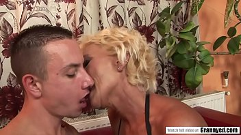 Old Mommy Drilled by Young Energetic Cock