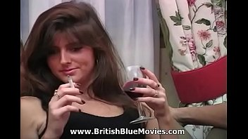 VHS porn from the 1990s with English slut Hayley Russel