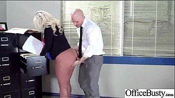 Busty Horny Girl (julie cash) Get Hard Style Sex In Office vid-18