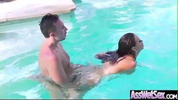 (Nikki Benz) Big Oiled Ass Slut Girl Love Hardcore Deep Anal Sex clip-24