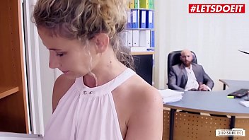 LETSDOEIT - Curly Blonde MILF Izzy Mendosa Experience Young Cock At The Office And She Enjoys Every Minute