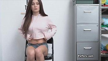 Teen caught getting fucked on hidden office camera