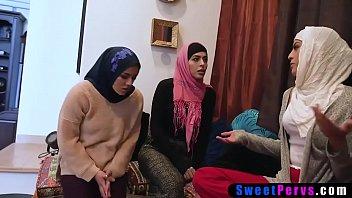 Arab teens surprised their BFF with a big black cock
