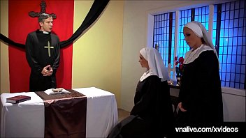 School Girl Nuns Nikki Benz & Jessica Jaymes lick & suck that forbidden cock & pussy in this crazy taboo clip!