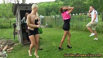 Sluts get goldenshower
