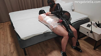 Extreme Bondage - CBT & Chastity By Goddess In Thigh High Boots