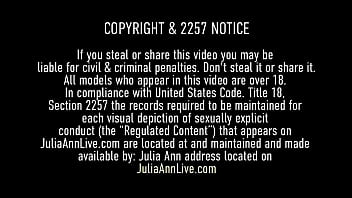 Perverted lover films busty cougar Julia Ann as she enjoys some hard fucking doggy style! Watch her nice big ass as she bends over in this hot POV clip. Full Video & Julia Ann Live @ JuliaAnnLive.com!
