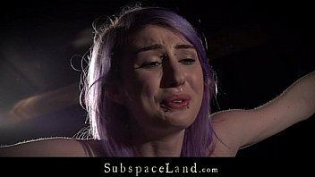 Lila Haare slave grobe spanked...