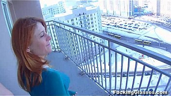 Fucking Glasses - I picked up this hot nubile redhead in a supermarket
