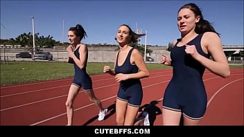 Cute Teen Lesbians Fuck After Track Practice