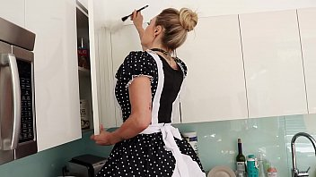 Role play video where  cougar mature milf dressed up as cleaning lady get her ass filled with cum  anal  Claudia Valentine  x Tommy WOOD
