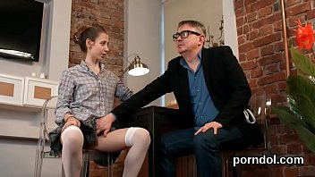 Sultry college girl is tempted and plowed by her elderly teacher