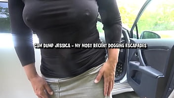 This video displays scenes from my most recent dogging escapades, all filmed in Summer 2020. I was a very busy cum dump.