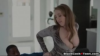 Harley Jade teasing a black man as she taking off her long-sleeve bikini and swaying her big ass