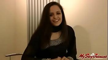 Indian College Girls Jasmine Mathur In Sexy Blue Dress Striptease Show