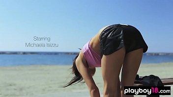Skinny european babe sensual striptease show