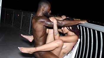 JULIE KAY GETS STRETCHED ON HOTEL BALCONY BY BBC