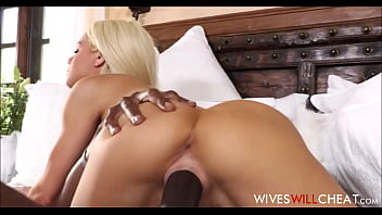 Sexy British wife makes herself happy with a big black cock Thumbnail