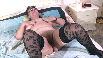 Gorgeous old Granny Adele, getting licked, sucked and fucked