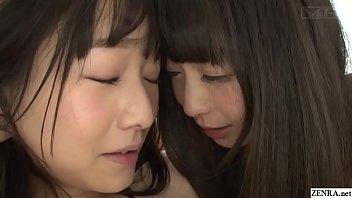 First time Japanese lesbian Ayane Suzukawa sensually fingered by Nozomi Hazuki in HD with English subtitles